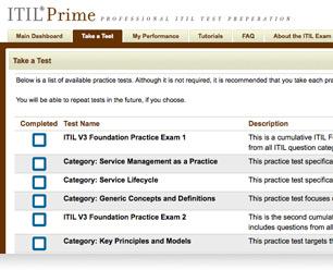 ITIL Practice Questions